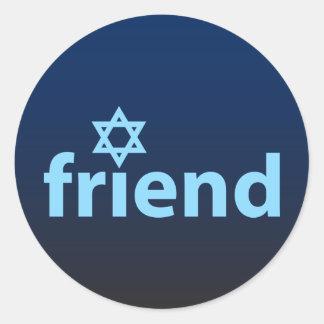 Friend of Israel Round Sticker