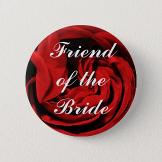 Friend Of The Bride Pinback Button