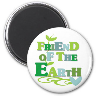 Friend of the Earth 2 Inch Round Magnet