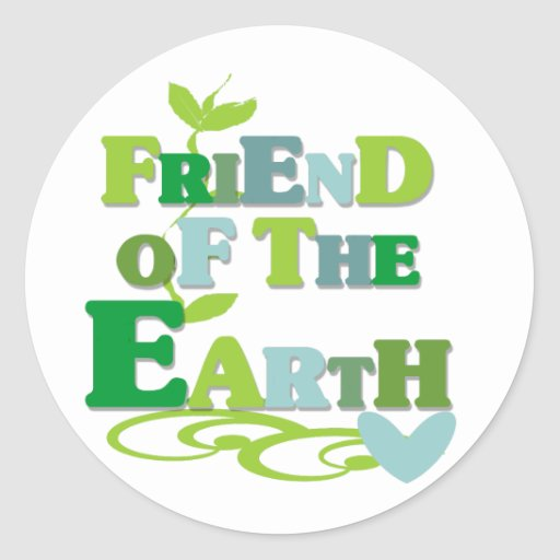Friend of the Earth Classic Round Sticker