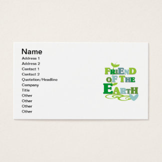 Friend of the Earth T-shirts and Gifts Business Card