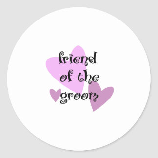Friend of the Groom Classic Round Sticker