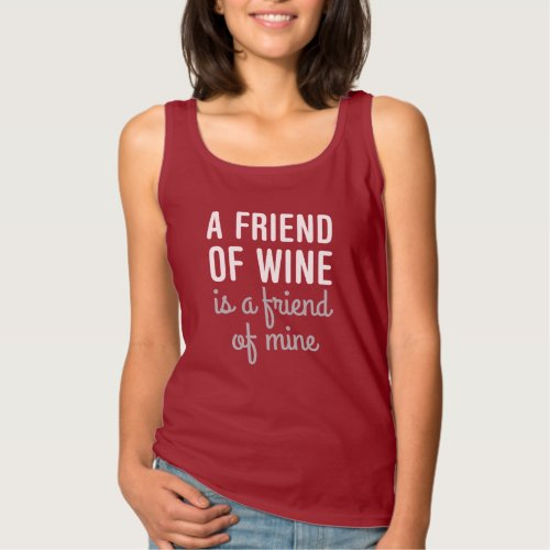 Friend Of Wine Tank Top