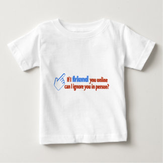Friend Online Ignore In Person Text Design Tees