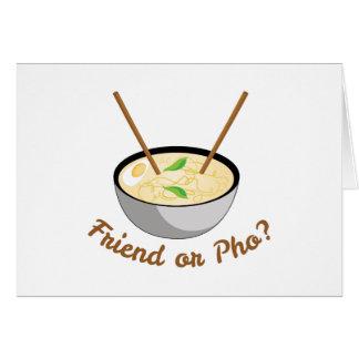Friend Or Pho Card