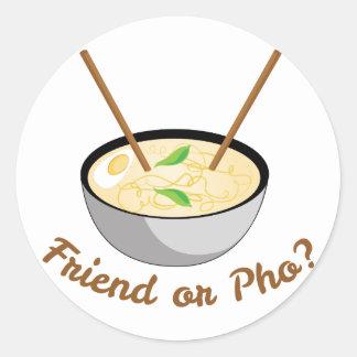 Friend Or Pho Classic Round Sticker