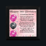"""Friend Poem  18th Birthday Gift Box<br><div class=""""desc"""">A great gift for a special friend on their 18th Birthday</div>"""