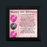 "Friend Poem  18th Birthday Gift Box<br><div class=""desc"">A great gift for a special friend on their 18th Birthday</div>"
