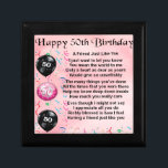 "Friend Poem - 50th Birthday Gift Box<br><div class=""desc"">A great gift for a friend on their 50th Birthday.</div>"
