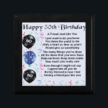 """Friend Poem 50th Birthday Gift Box<br><div class=""""desc"""">A great gift for a friend on their 50th birthday</div>"""