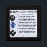 "Friend Poem 50th Birthday Gift Box<br><div class=""desc"">A great gift for a friend on their 50th birthday</div>"