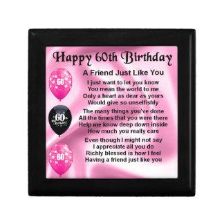 Friend poem - 60th Birthday Jewelry Box