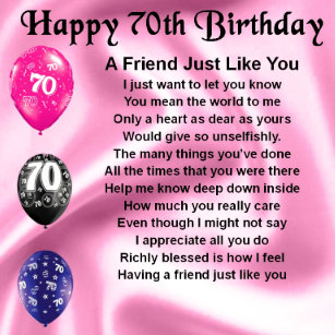 Friends 70th Birthday Gifts On Zazzle