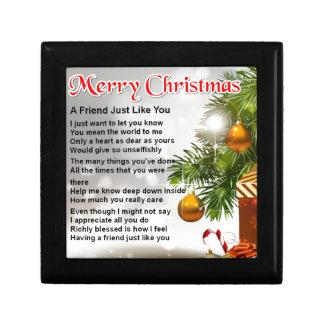 Friend Poem - Christmas Design Keepsake Box
