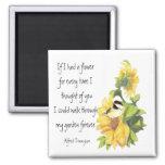 Friend Poem with Chickadee & Sunflower Garden Magnet