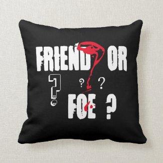 'Friend' Polyester Throw Pillow
