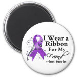 Friend Purple Ribbon - Pancreatic Cancer Fridge Magnets