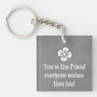 Friend Quote Keychain