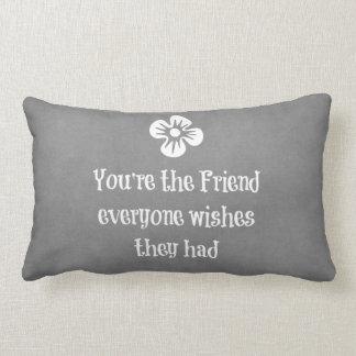 Friend Quote Lumbar Pillow