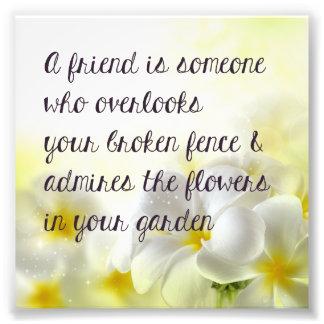 Friend Quote Print