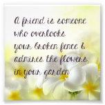 Friend Quote Print Photo Print