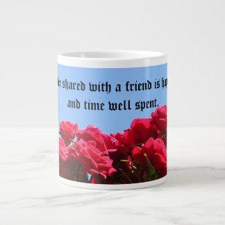 Friend Quote Roses Jumbo Mug
