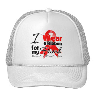 Friend - Red Ribbon Awareness Mesh Hats