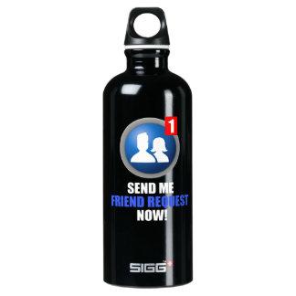 Friend Request Aluminum Water Bottle