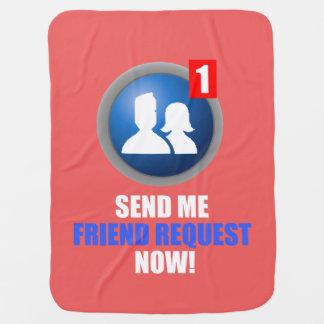 Friend Request Baby Blanket