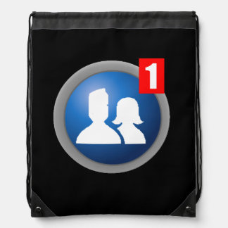 Friend Request Drawstring Backpack