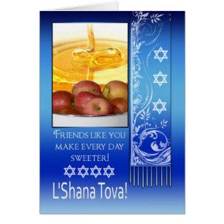 Friend Rosh Hashanah Jewish New Year - L Shana To Card