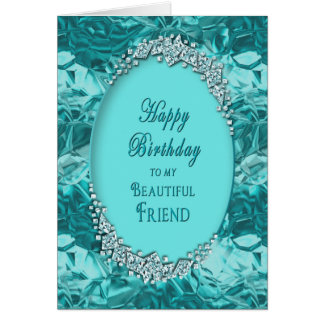 "FRIEND""S BIRTHDAY _ BLUE ICE CARD"