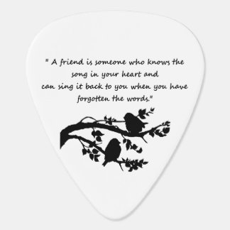 Friend Song in my Heart Quote Birds Guitar Pick