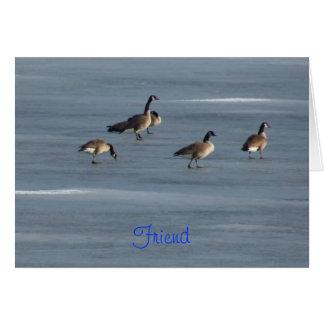 Friend, Stroll Down Memory Lane, Geese Greeting Card