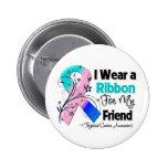 Friend - Thyroid Cancer Ribbon 2 Inch Round Button
