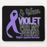 Friend Violet Ribbon Hodgkins Lymphoma Mousepads