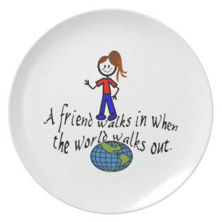 Friend Walks In Dinner Plate