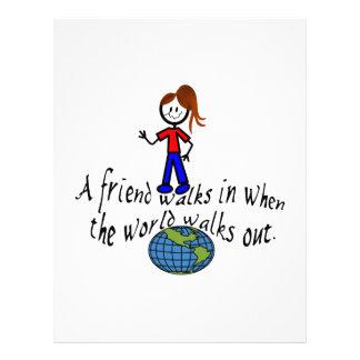 Friend Walks In Letterhead