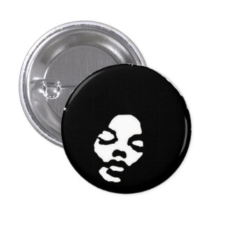 Friend with Fro 1 Inch Round Button