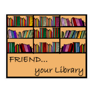 Friend your library postcard