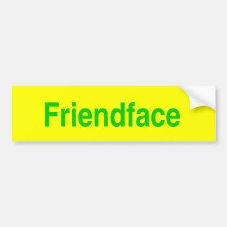 Friendface Sticker Bumper Sticker
