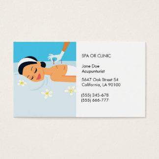 Friendly Acupuncturist Business Card