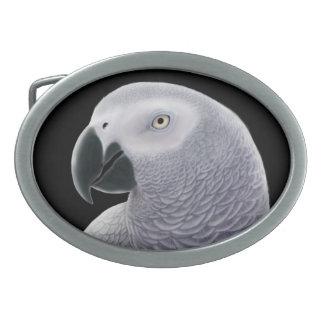 Friendly African Gray Parrot Belt Buckle