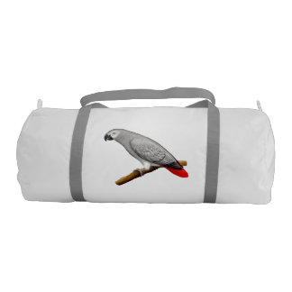 Friendly African Gray Parrot Gym Bag