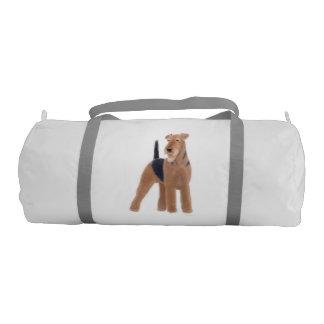 Friendly Airedale Terrier Dog Duffel Bag