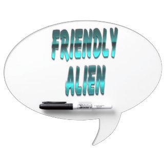 Friendly Alien Blue Dry Erase Board