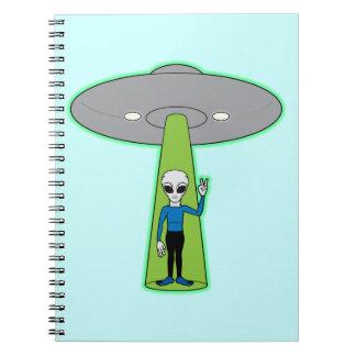 Friendly Alien Comes in Peace Notebook