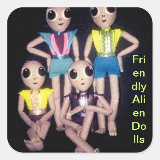 Friendly Alien Dolls Stickers