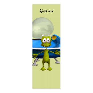 Friendly Alien Mini Business Card