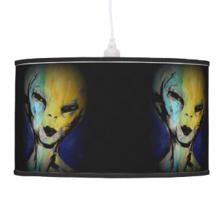 'Friendly Alien' on a hanging pendant lamp